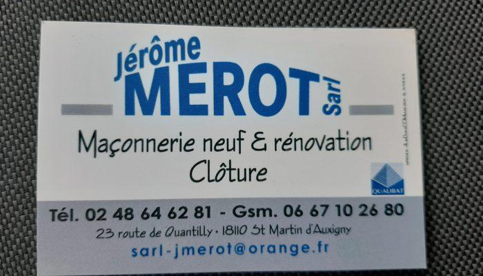 Jérôme MEROT Maçonnerie